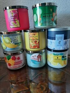 Bath and body works candles lot 14.5 Oz New