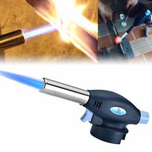 Blow Torch Butane Flame Thrower Burner Welding Auto Ignition Blowtorch BBQ V3