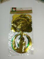 NOS Vintage Kurt Adler Japan Gold Green Foil Candle 9 foot Garland