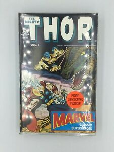 Rare Retro The Mighty Thor Marvel Classic Superheroes 1988 VHS Clam Shell