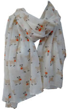 White Christmas Scarf Rudolph Deer Reindeer Secret Festive gift Women's Wrap