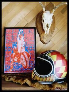 Biker Born Biker Bred chopper pin up poster mancave harley vintage motorcycle hd