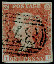 SG9, 1d pale red-brown PLATE 102, FINE USED. Cat £40. ID