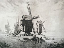 Alexandre Ségé Moulin à Windmills dans le Pas-de-Calais 1855
