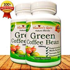 GREEN COFFEE BEAN EXTRACT 1000mg WEIGHT LOSS DETOX DIET FAT BURNER 2 BOTTLES