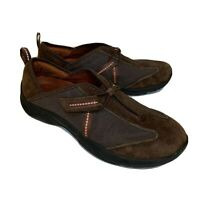 Privo By Clarks Womens Size 8M Brown Suede Sneakers Shoes Slip On Flats