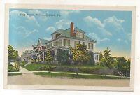 House on King Street NORTHUMBERLAND PA Vintage Pennsylvania NOS Postcard