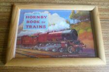HORNBY BOOK OF TRAINS: FRAMED POSTCARD-SIZE PRINT: MECCANO 0 GAUGE TRAINS
