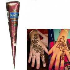 10 Colors Natural Herbal Henna Cones Temporary Tattoo Body Art Paint Mehandi Ink