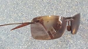 Maui Jim MJ Sport Lighthouse Thin Brown Flexible Designer Sunglasses Made Japan