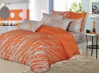 ORANGE TREE Sheet Set Double/Queen/King Size Bed Flat&Fitted New 100% Cotton