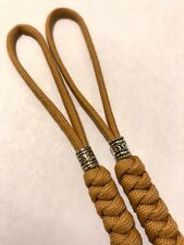 550 Paracord Knife Lanyard 2pk, Goldenrod Snake Knot With A Silver Metal Beads