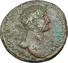 HADRIAN Genuine 120AD Rome Dupondius Authentic Ancient Roman Coin SALUS i65957