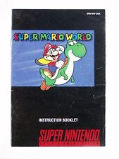 SUPER MARIO WORLD .... Manual only, no game  SNES SUPER NINTENDO