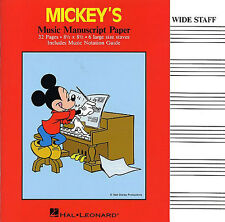 Mickey Mouse Disney Manuscript Paper Write your Own Music Book