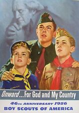 Boy Scouts Poster, 1956.  46th Anniversary.