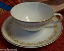 Sheffield Imperial Gold 504 Japan flat cup and saucer vintage Fine China