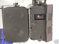 952-987   Small Adastra Cabinet speakers Black 100v or 8 ohms 30w with bracket