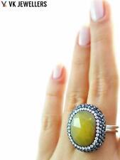 Turkish Handmade 925 Sterling Silver Jewelry Natural Quartz Hot Druzy Ring C59