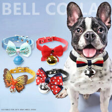Cute Adjustable Dog Cat Collar Pet Bow Tie with Bell Puppy Kitten Necktie Collar