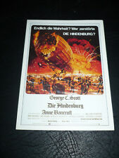 THE HINDENBERG, film card [George C Scott, Anne Bancroft, William Atherton]