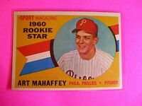 1960 TOPPS baseball Set Break #138 Art Mahaffey Phillies, NmMt High Grade
