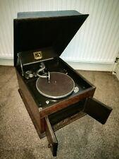 Antique His Masters Voice Vintage Gramophone Player Model No. 109 Circa 1930