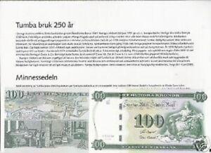SWEDEN 100 KRONER P68 2005 LION COMMEMORATIVE UNC CURRENCY MONEY NOTE+ FOLDER