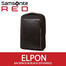 Samsonite RED ELPON Backpack M 14Inch Laptop Leather/Nylon EMS 30x41cm All Black