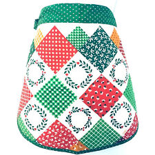 Vintage Kitchen Works Christmas Half Apron Red Green Patchwork Ff12