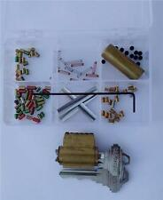 """Schlage 6 pin """"You Build a Lock"""" Practice lock Kit Spool & Serrated Pins Pick"""