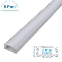 5-pack 0.5M U-Shape Aluminum Channel Cover End Up for Rigid Flex Hard LED Strip