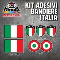 KIT Adesivi Stickers PAGATINA AUTOCOLLANT BANDIERA ITALIA TRICOLORE NERO
