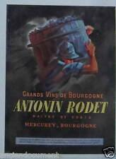 PUBLICITÉ 1943 GRANDS VINS DE BOURGOGNE ANTONIN RODET - ADVERTISING