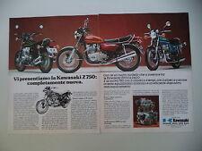 advertising Pubblicità 1975 MOTO KAWASAKI Z 900 SUPER/Z 400/Z 750 Z750