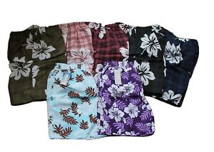 Herren Bermuda Badeshorts Badehose Shorts Hawaii Blumen Schwimmhose Badehose