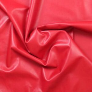 RED Soft Lamb Napa Leather Hide 0.7 mm, Beautiful Smooth Whole Skins 32-54 SQ FT