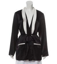 Fleur Du Mal X Playboy Black White Silk Slip Dress Robe Jacket Small/Medium 2-4