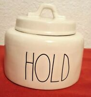 Rae Dunn HOLD Chubby Canister Large Letters by Magenta🎁❤️ Farmhouse New w/tag