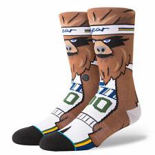 Postura de la NBA de hombre Utah Jazz Jazz el Oso Calcetines-Marrón/Blanco