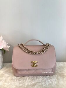RARE 🌸 CHANEL Pink Business Affinity 🌸 Flap Bag Quilted Caviar Medium