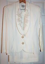 Vtg 80s Jeffrey & Dara Linda Hutley Ladies Blazer Jacket Skirt Outfit Set 11/12