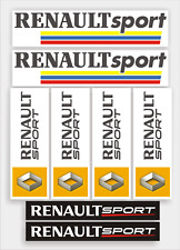 Renault Sport Decal sticker pack, Quality Vinyl, over laminated to protect.
