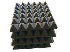 8 PCS Pyramid Charcoal Studio Acoustic Sound Absorption Foam