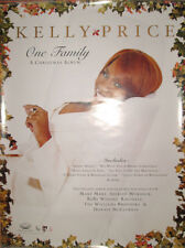 Kelly Price Christmas Album promotional poster, 2001, 18x24, Ex< R&B