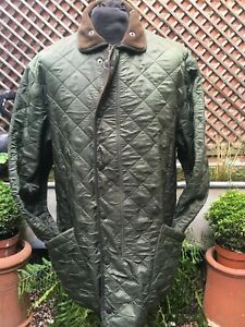 Barbour Polarquilt (long) country casual green quilted jacket men's size XL+