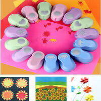 Mini Handmade Hole Punch Paper Craft Shape Cutter Scrapbook Cards Art CuttersUK6