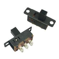 10Pcs High Knob 6 Pin 3 Position DPDT Panel Slide Switch 0.5A 50V DC