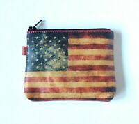American flag Change Purse Zippered Coin Purse Leather US Flag Change Purse