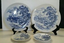 Vintage Wedgewood Countryside Plates 2 Dinner,1 Bread, & 1 Saucer